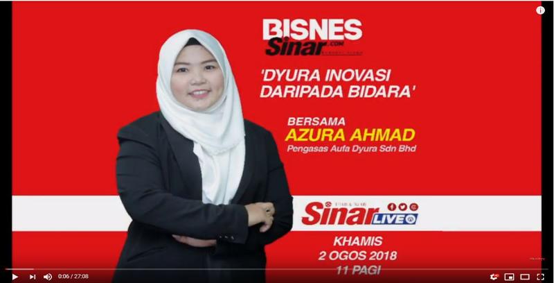 Siaran Langsung: Bisnes Sinar, 'Dyura Inovasi Daripada Bidara'. Bersama Azura Ahmad