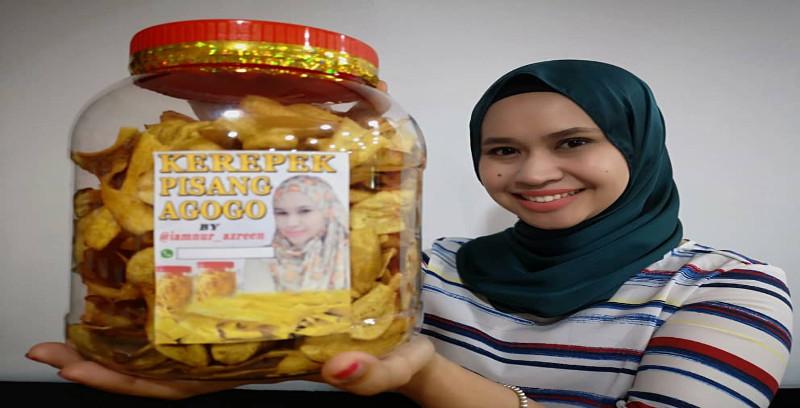 Nur Azreen fokus jual kerepek