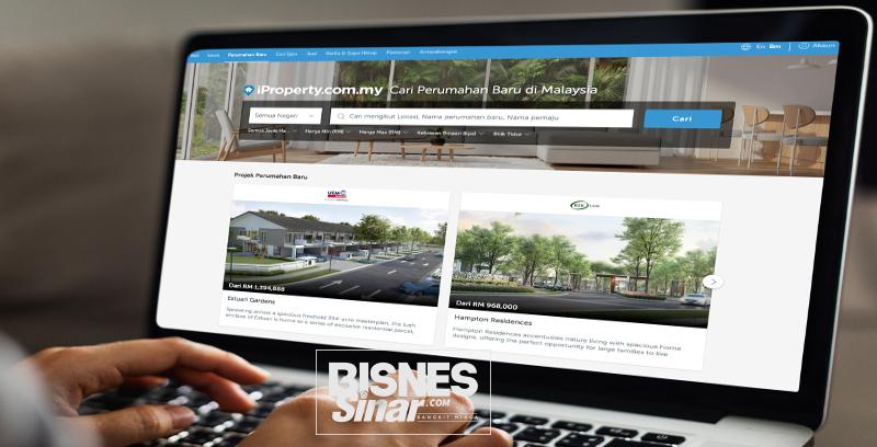 Laman web iProperty.com.my dalam Bahasa Malaysia