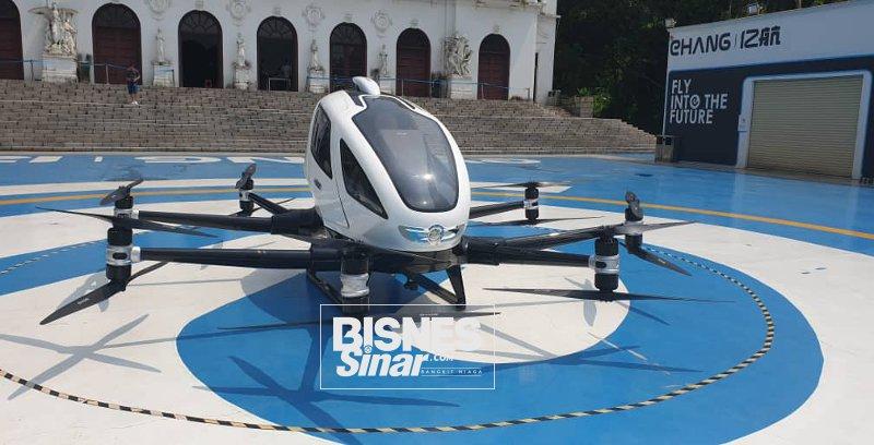 Super Dron Kereta terbang elektrik penumpang bakal diperkenal