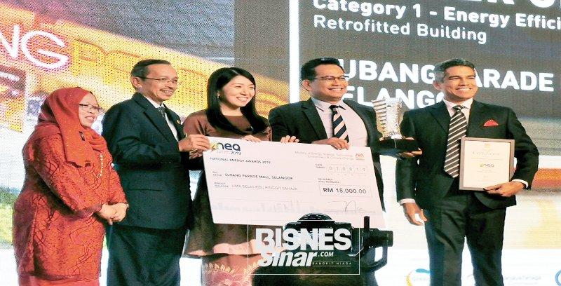 Subang Parade menang Anugerah Cekap Tenaga Kebangsaan 2019