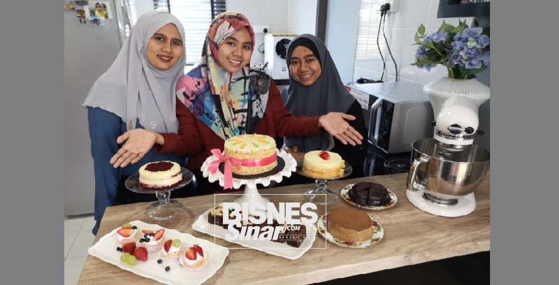 Tiga beradik sepakat buka kedai kek dan pastri