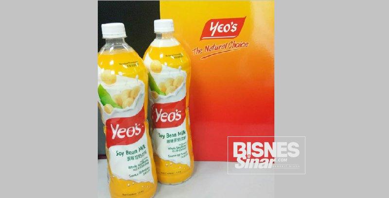 Yeo's Soya dengan ciri khas botol mudah digenggam