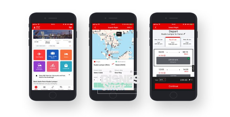 AirAsia tambah ciri baharu aplikasi iOS, Android