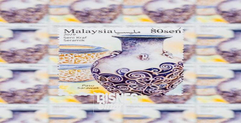 Pos Malaysia lancar koleksi setem seni ukiran dan kraf