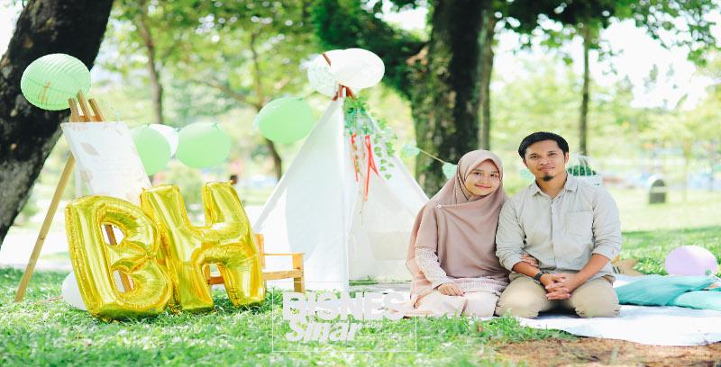 Cipta nama dalam talian, suami isteri ganding bahu tawar tudung bidang besar patuh syariah