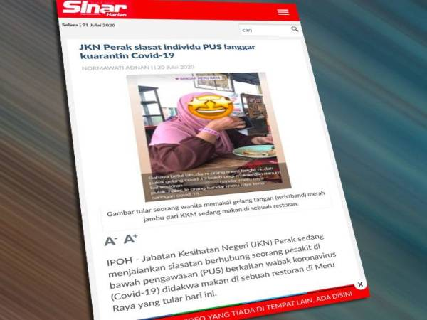 Wanita 'gelang pink' dirawat di hospital
