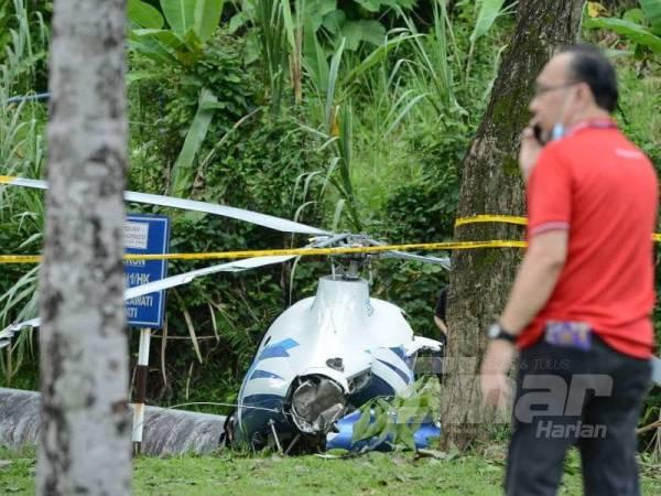 Helikopter terhempas: Dua maut termasuk bekas tentera laut