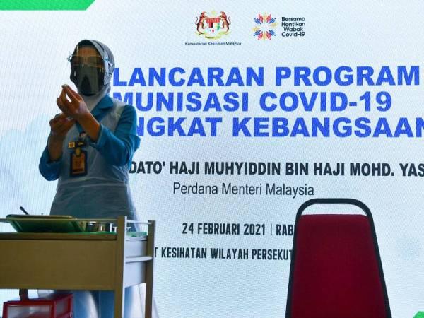 Malaysia laksana program imunisasi Covid-19 besar-besaran esok